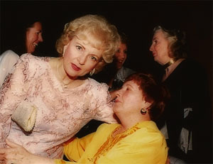 Gloria Lane with legendary actress  Betty White